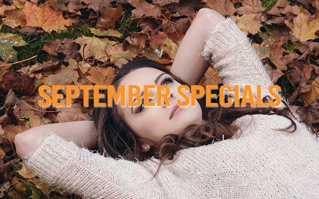 September 2021 Specials